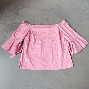 H&M Pink Off The Shoulder Bell Sleeve Top size 12